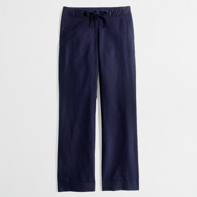 Factory seaside pant in linen-cotton