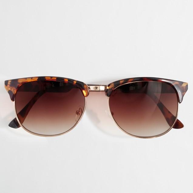 Factory retro frame sunglasses