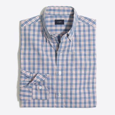 Tall washed shirt in medium plaid