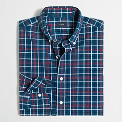 Factory washed shirt in medium plaid