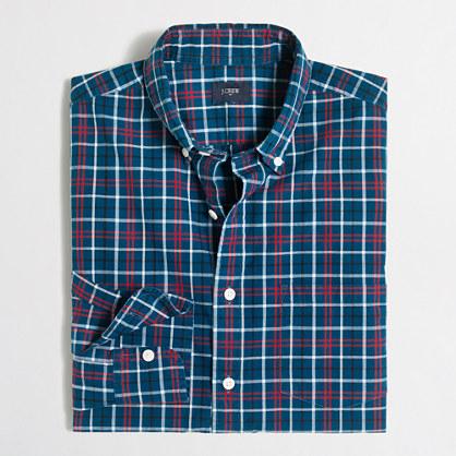 Washed shirt in medium plaid