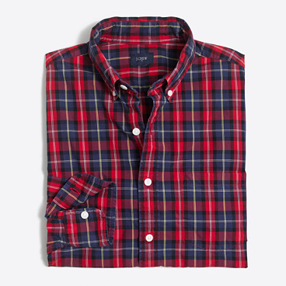 Washed shirt in medium plaid