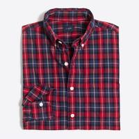 Tall washed shirt in medium plaid