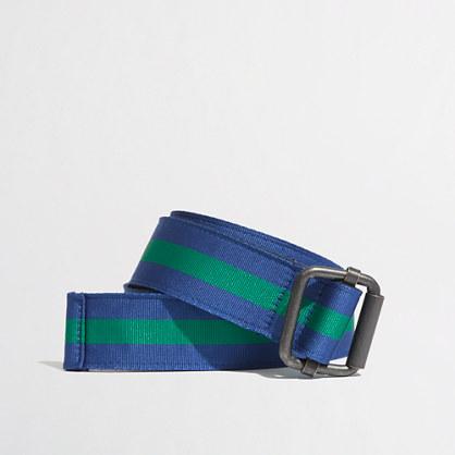 Factory reversible ribbon belt