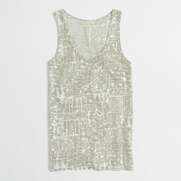 Factory sequin shapes tank