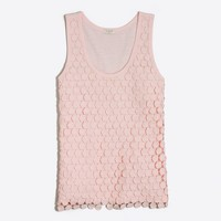Tiered dot tank top