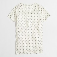Factory ivory anchor collector tee