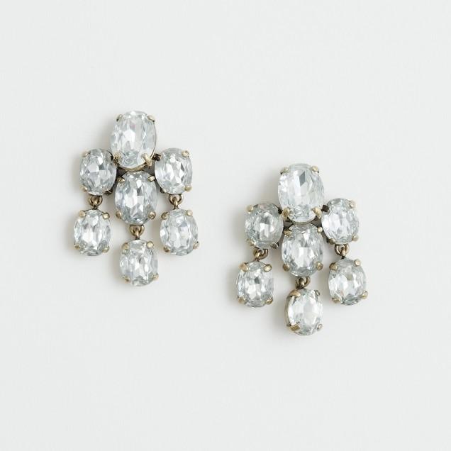 Factory crystal cloud earrings