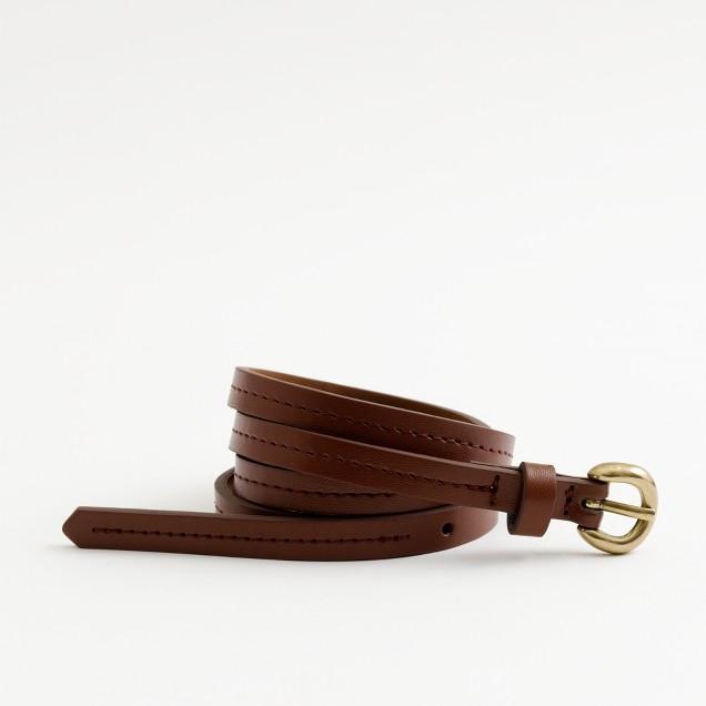 Factory skinny stitched belt