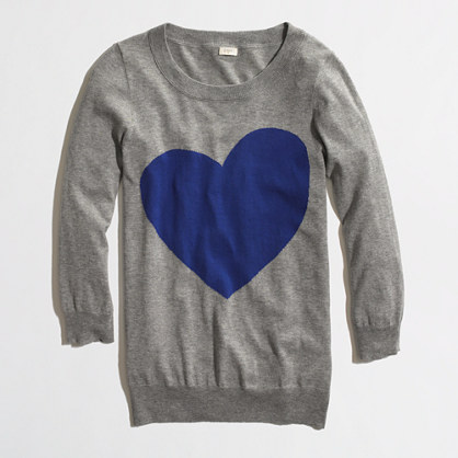 Factory intarsia Charley sweater in heart