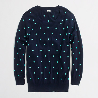 Embroidered dot sweater