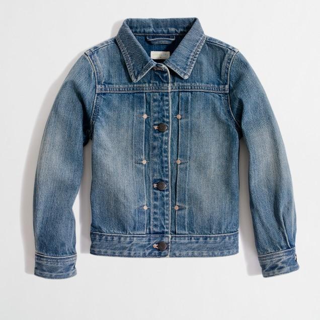 Factory girls' classic denim jacket