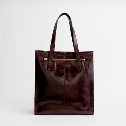 Factory classic leather tote