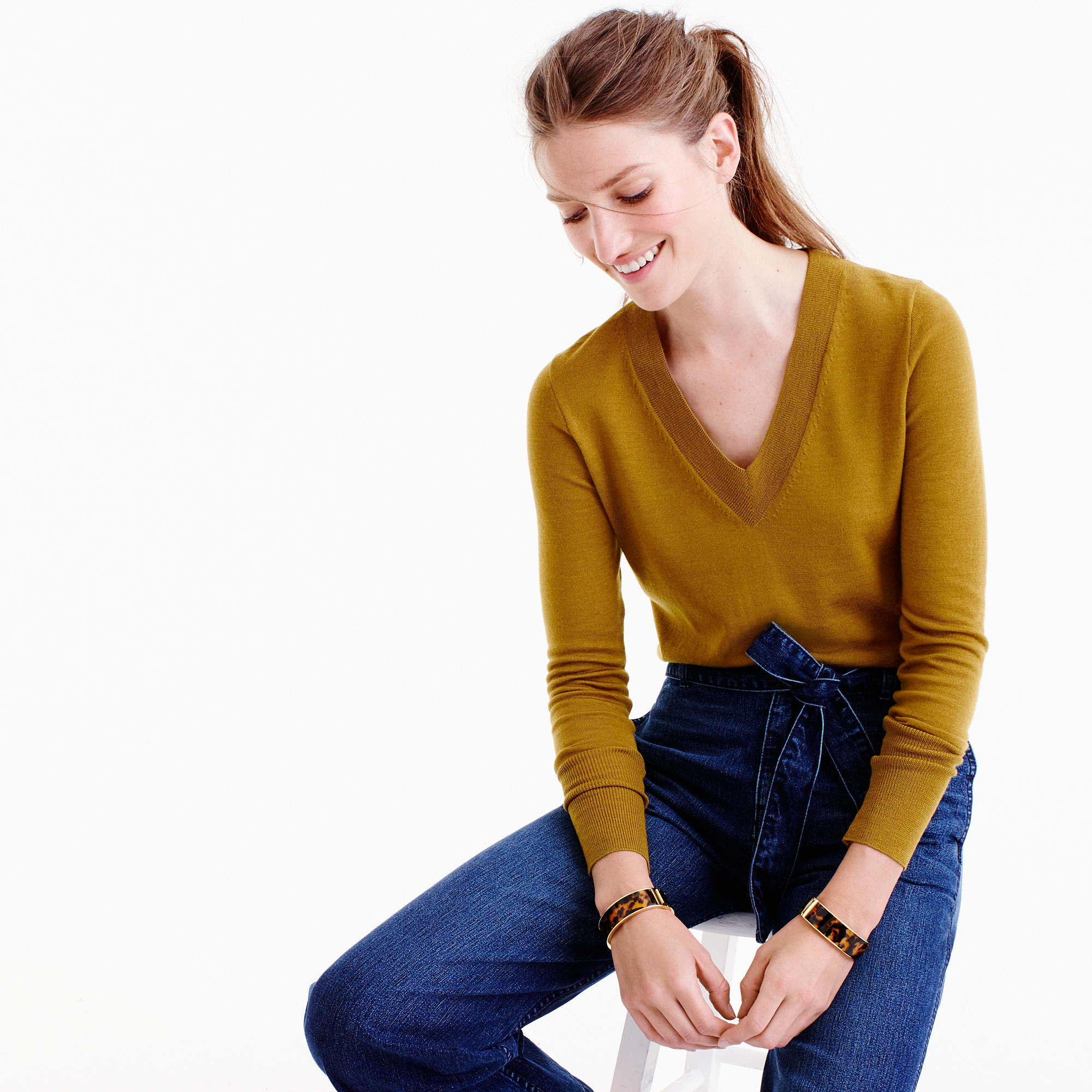 Merino Wool V-Neck Sweater : Women's Sweaters | J.Crew