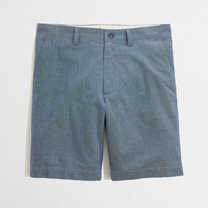 "Factory 9"" gramercy short in blue chambray"