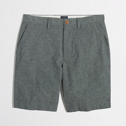 "9"" pindot chambray Gramercy short"