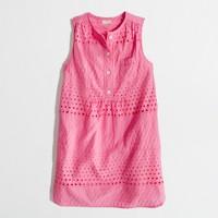Factory girls' sleeveless shirtdress