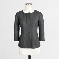 Pleated suiting jacket