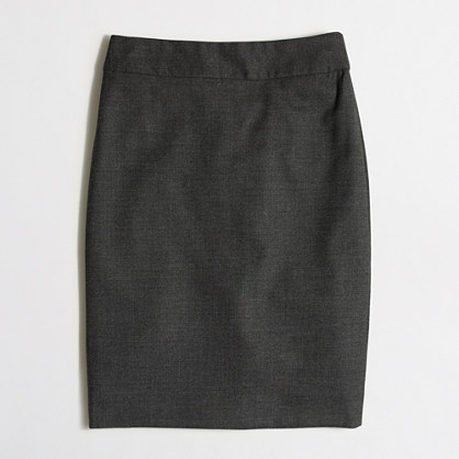 Pencil skirt in wool flannel