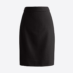 Petite pencil skirt in double-serge wool