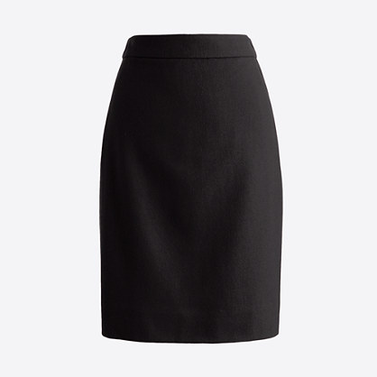 Factory pencil skirt in double-serge wool