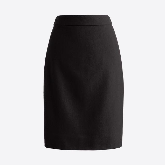 Petite pencil skirt in double-serge wool