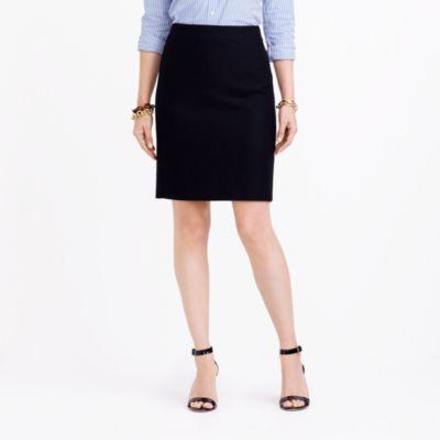 Pencil skirt in double-serge wool factorywomen dress-up shop c