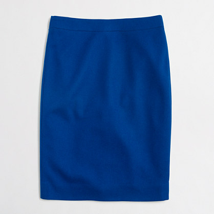 Tall pencil skirt in double-serge wool