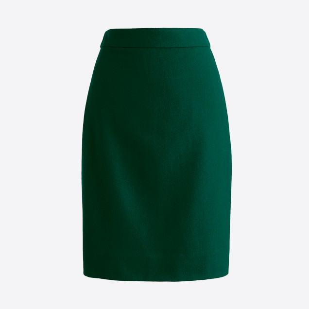 Pencil skirt in double-serge wool