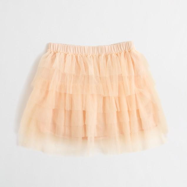 Factory girls' tulle skirt