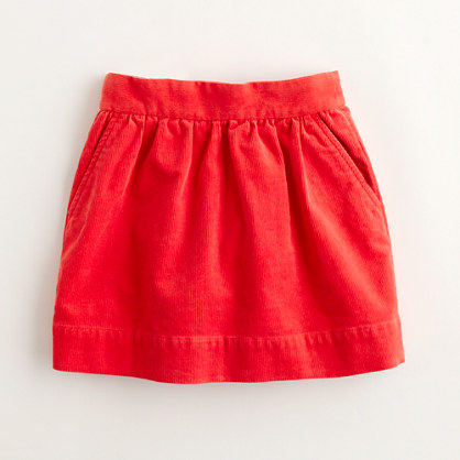 Factory girls' stretch cord skirt
