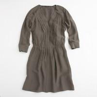 Factory silk georgette shirtdress