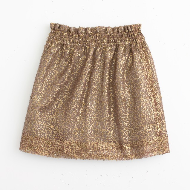 Factory sequin mesh bell skirt
