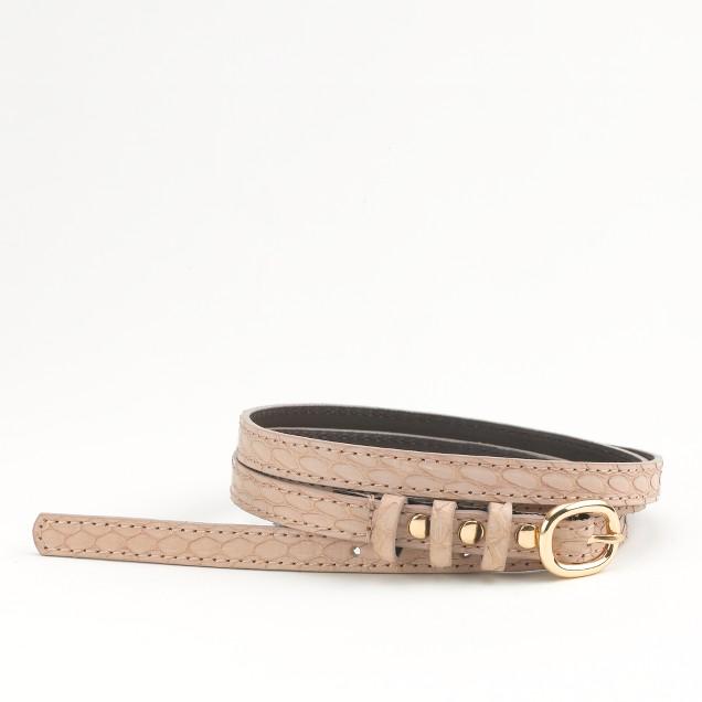Factory skinny snakeskin belt