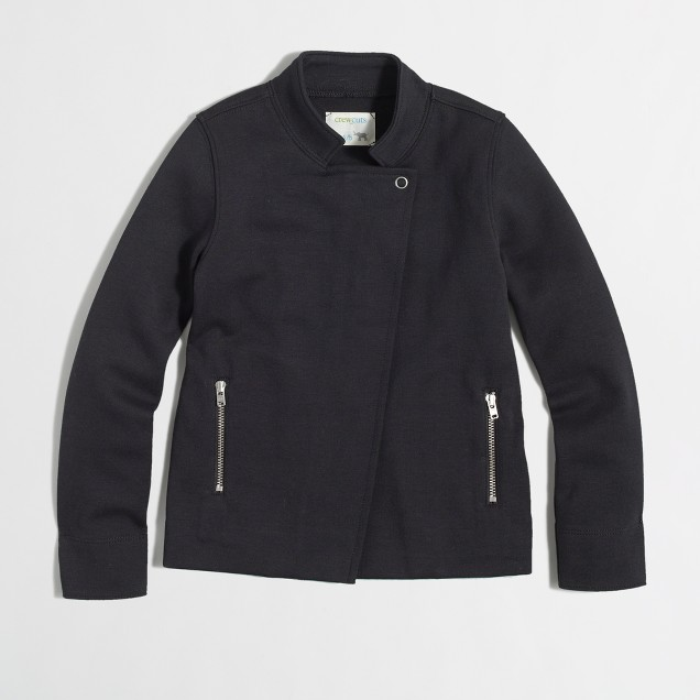 Factory girls' zipper jacket