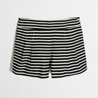 Pleated striped short
