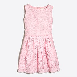 Factory girls' pleated lace party dress