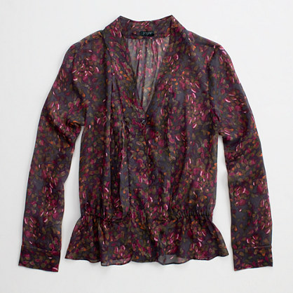 Factory camp blouse in printed silk chiffon