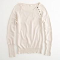 Factory zip crewneck sweater