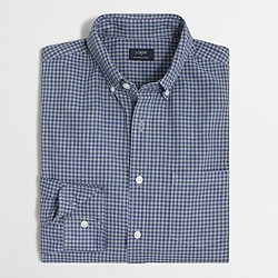 Factory heathered cotton plaid shirt
