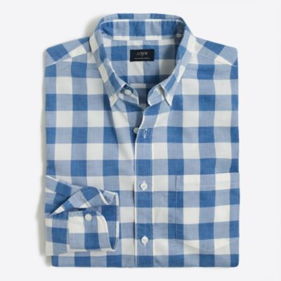 Heathered cotton plaid shirt factorymen casual shirts c