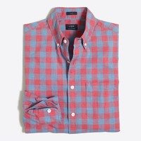 Tall slim heathered cotton gingham shirt
