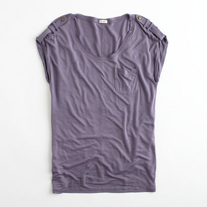 Factory drapey pocket tee