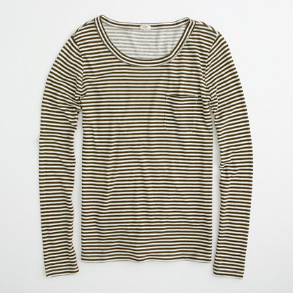 Factory stripe pocket tee