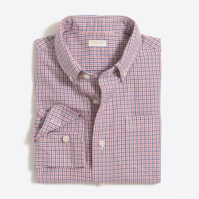 Boys' patterned washed shirt