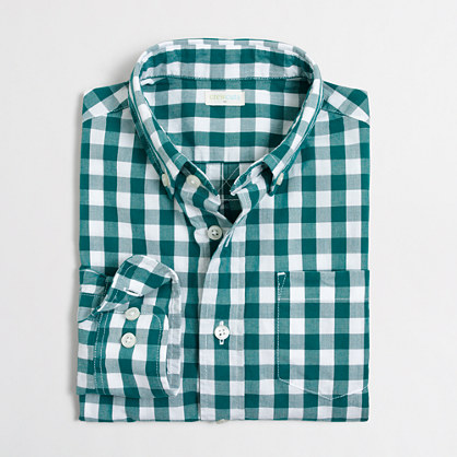 Boys' patterned washed shirt