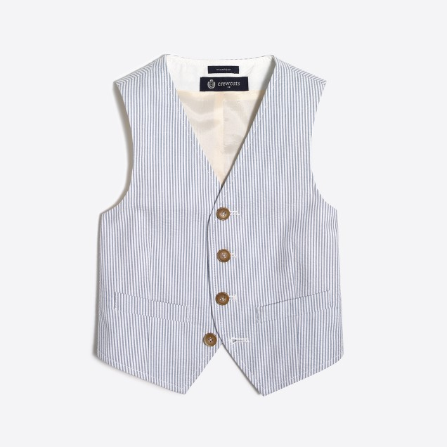 Boys' Thompson suit vest in seersucker