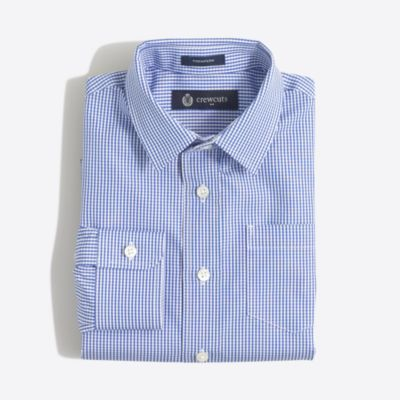 Boys' patterned Thompson point-collar dress shirt factoryboys thompson suits c
