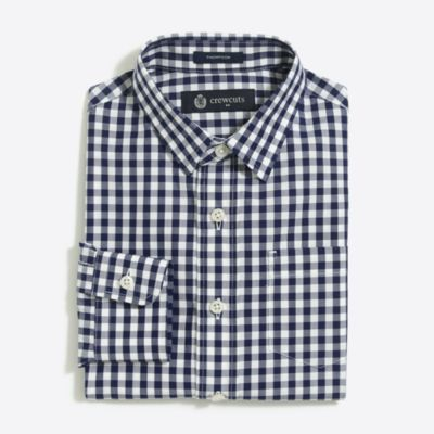 Boys' patterned Thompson point-collar dress shirt factoryboys shirts c
