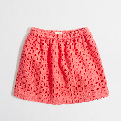 Factory girls' cotton eyelet skirt